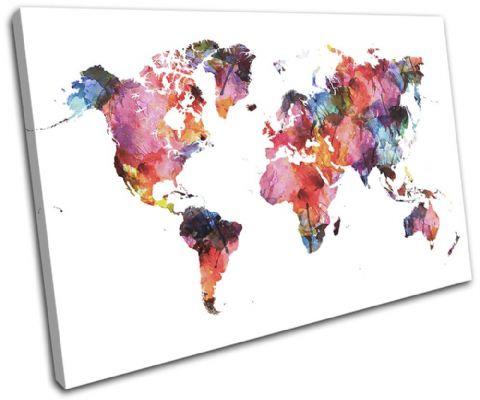 Watercolour  Abstract Maps Flags - 13-6013(00B)-SG32-LO